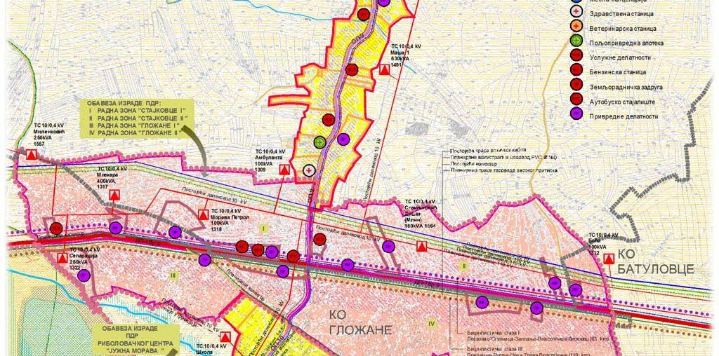 Plan detaljne regulacije radnih zona Stajkovce i Gložane