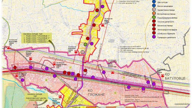 План детаљне регулације радних зона Стајковце и Гложане