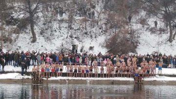 Пливања за часни крст у Власотинцу