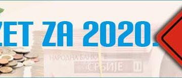 УПУТСТВО ЗА ПРИПРЕМУ БУЏЕТА ЗА 2020. ГОДИНУ